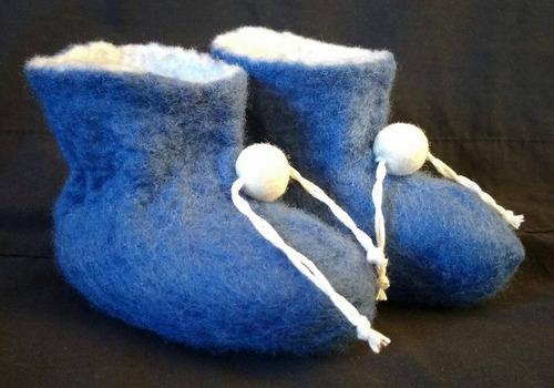 sapatinho recém nascido lã merino