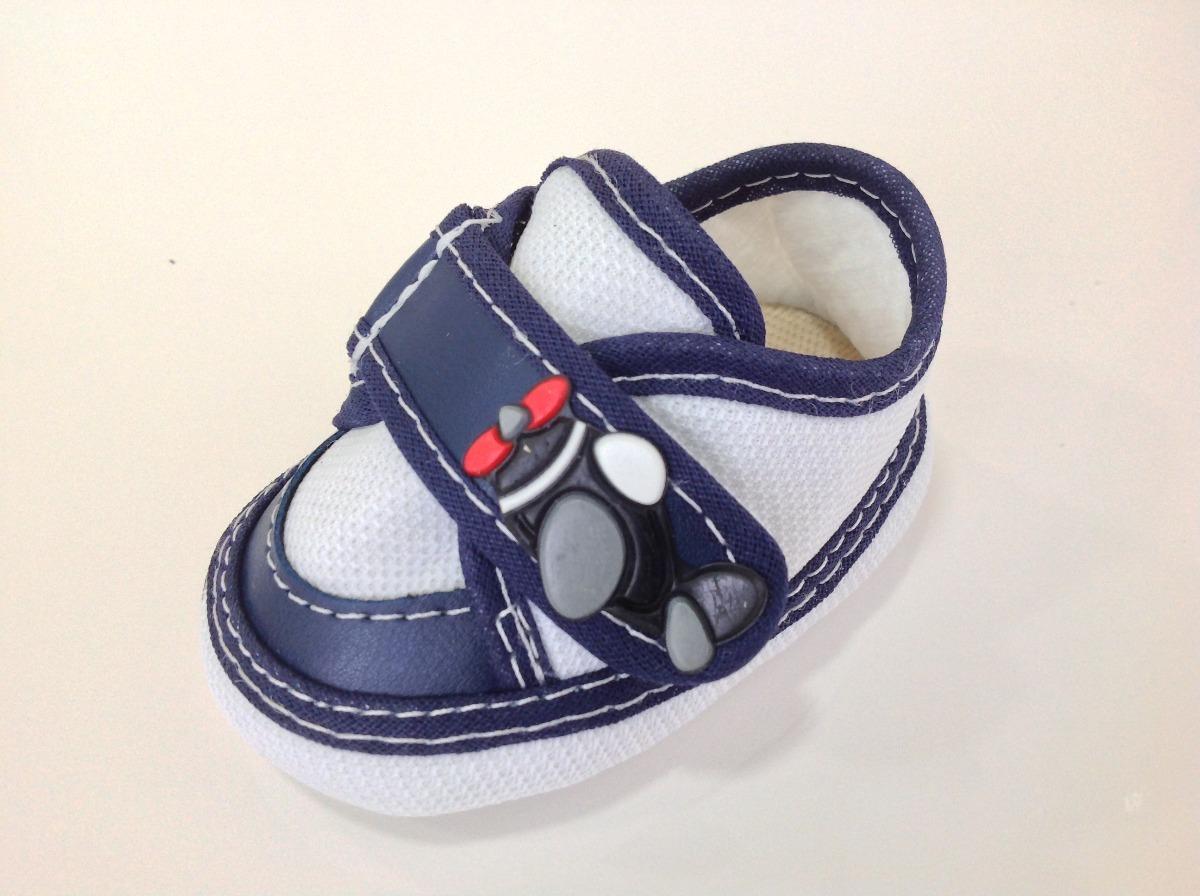 0f7ab719b9 sapatinho tênis bebe menino recém nascido branco azul lindo. Carregando  zoom.