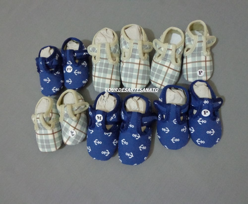 sapatinhos em tecido para customisar menino