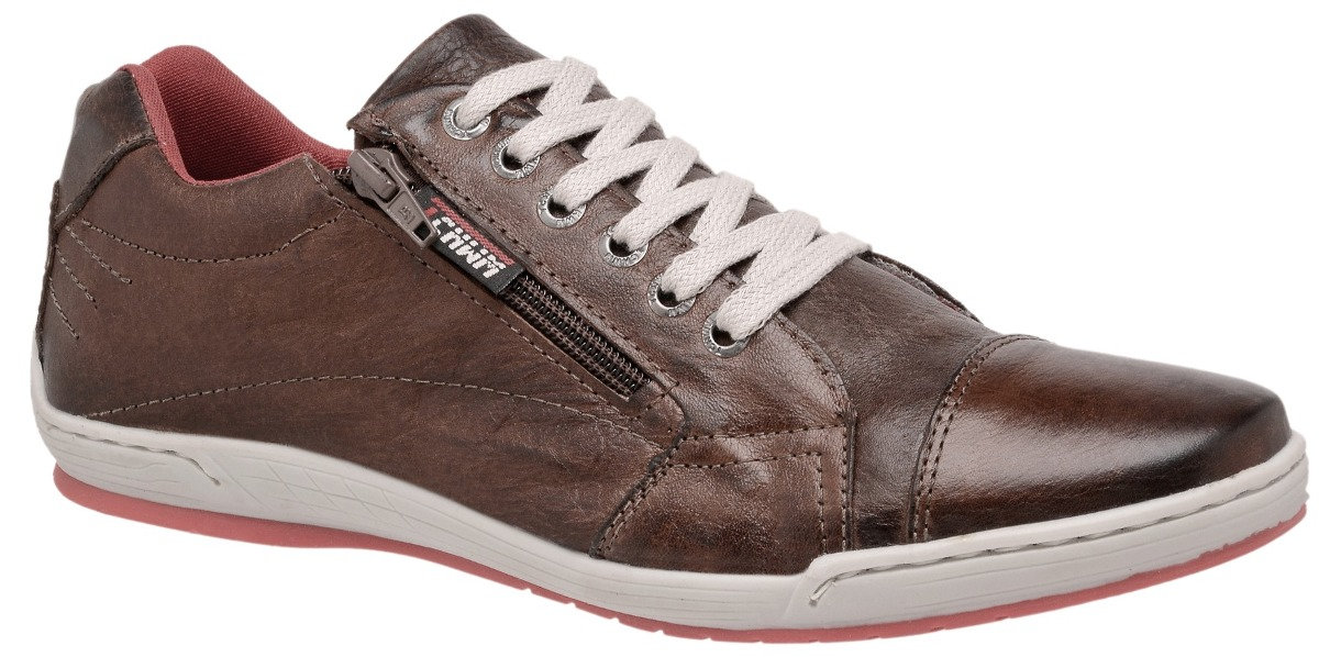 7bf47d2a86 Sapatênis Couro Legitimo Estilo Ferracini Ziper- Tchwm Shoes - R  79 ...