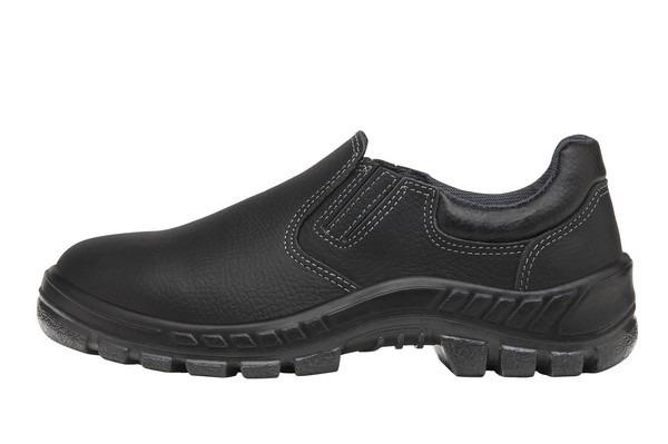 c2cc5fa6f Sapatênis De Segurança Preto Elástico Couro Sapato 50t19 Bp - R$ 105 ...