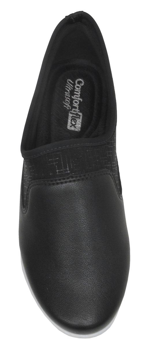 7decfcfd8 sapatênis feminino amortecedor comfortflex 1858401 preto. Carregando zoom.