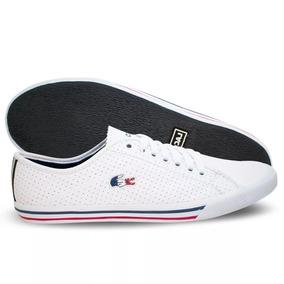 f0b927aeb62 Tenis Couro Lacoste Branco - Calçados