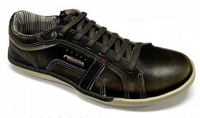 5a452cbea3 Sapatenis Couro Solado Amortecedor Gel Masculino - Sapatos no ...