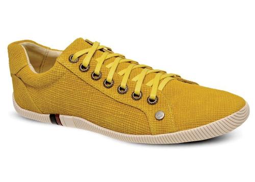 sapatênis osklen arpoador em couro  trissê amarelo - skm 136