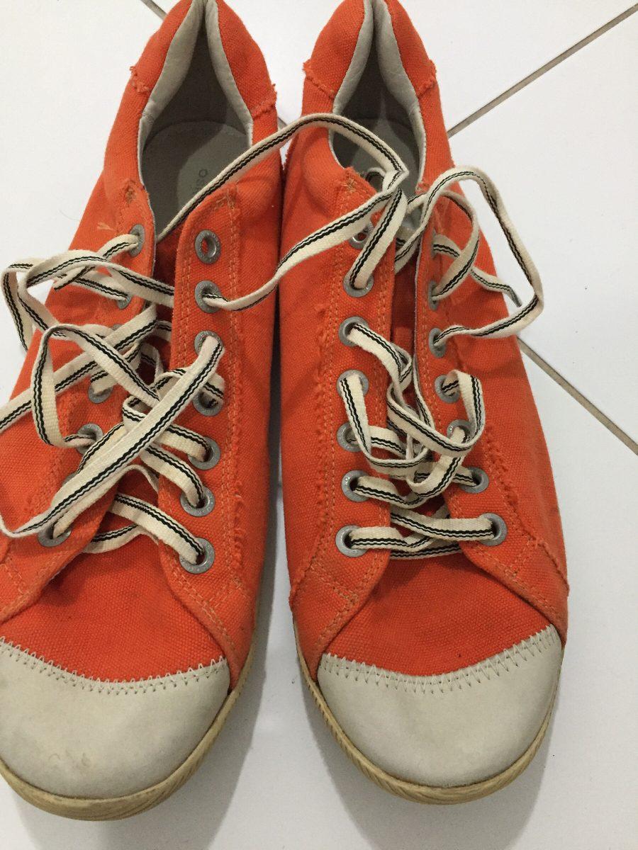 f262a0ea942 sapatênis osklen original laranja de tecido tamanho 44. Carregando zoom.