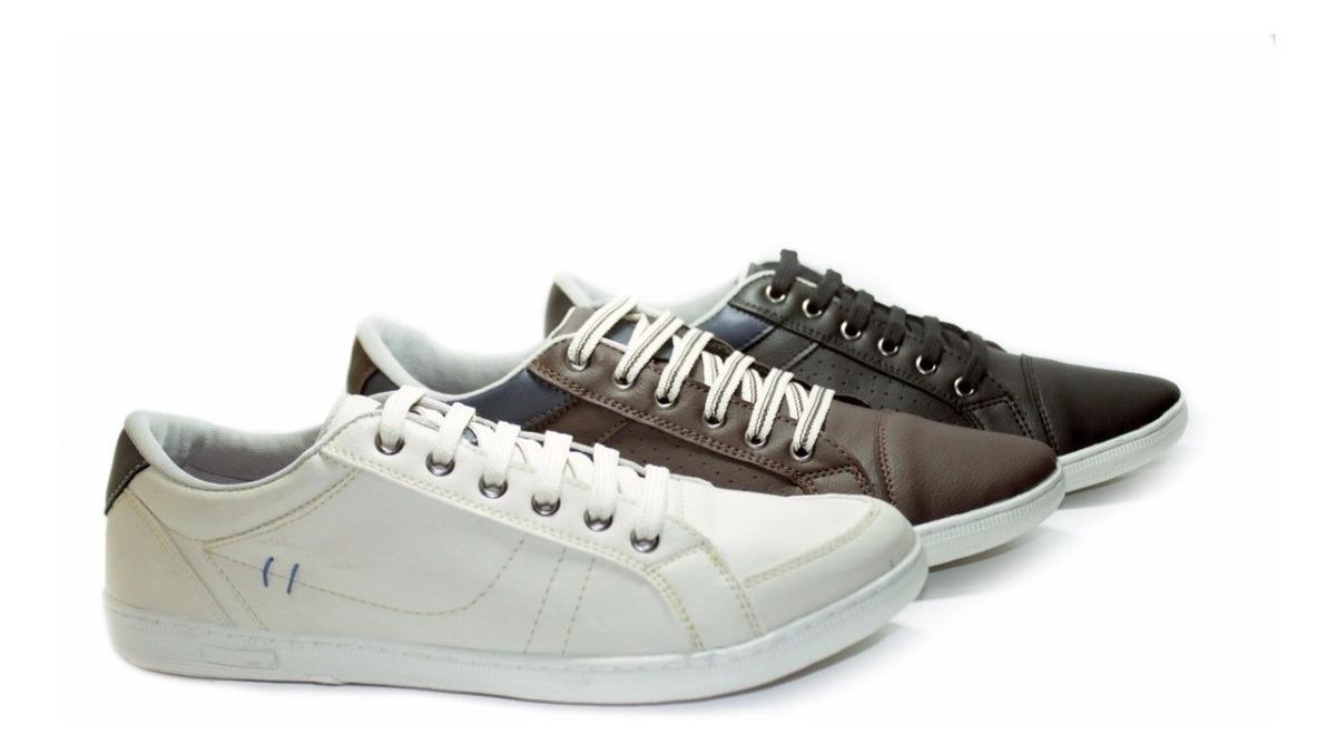 653d980216 sapatênis tênis casual masculino kit com 3 pares promoção. Carregando zoom.