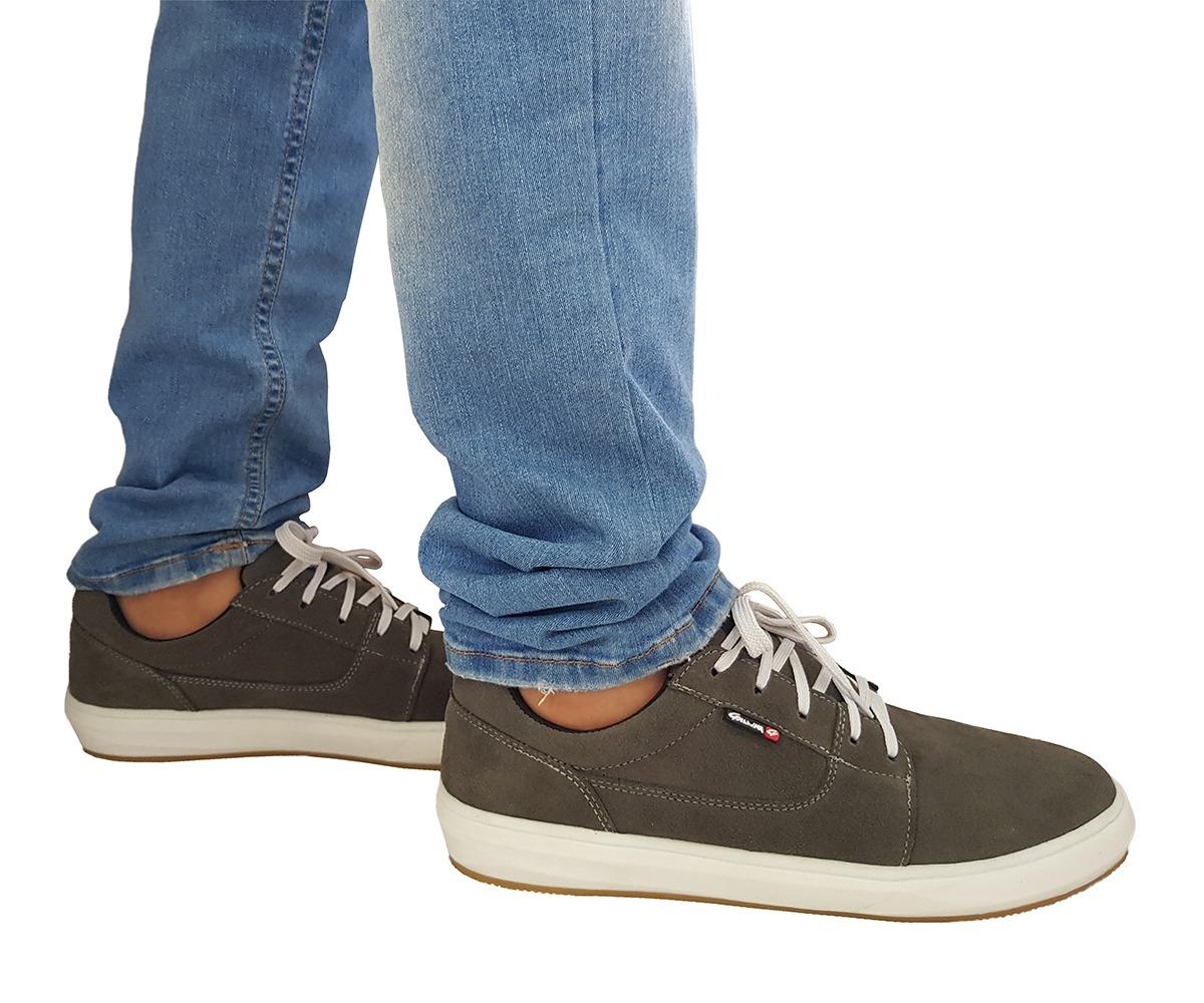 sapatênis tênis masculino couro skate combina jeans bermudas. Carregando  zoom. 9d0250f3338c2