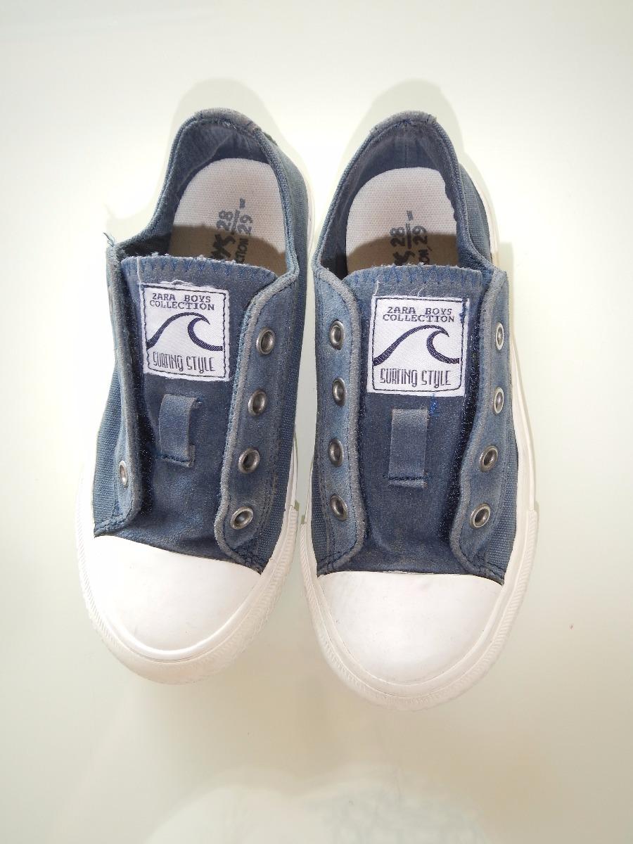 eeac8e61297 Sapatênis Tênis Zara Menino 26 27 Azul Infantil All Star - R  50