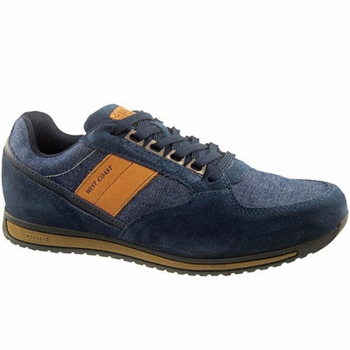 sapatênis west coast joplin 126902 - azul / whisky