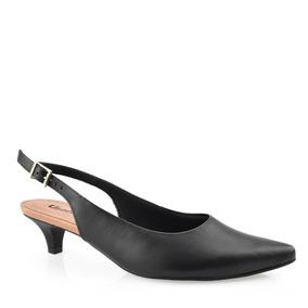 a43921a22 Sapatos Femininos Scarpin Frente Aberta Salto Baixo - Sapatos com o ...