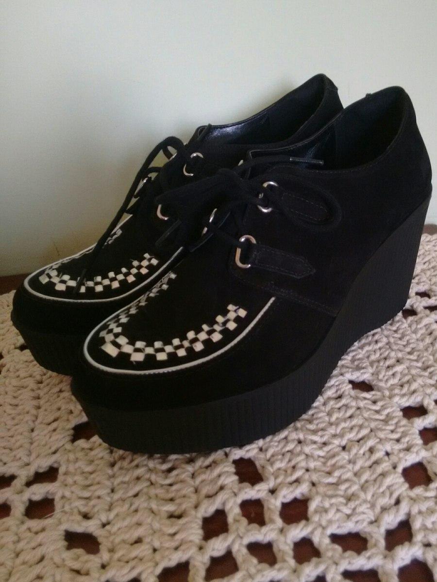 6c95c638f Sapato Alto Creeper Preto Punk Rock Nunca Usado - R$ 100,00 em ...
