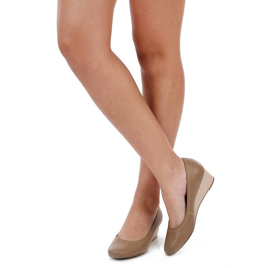 e050ec861 Sapato Anabela Conforto Usaflex Tramado - R$ 129,99 em Mercado Livre