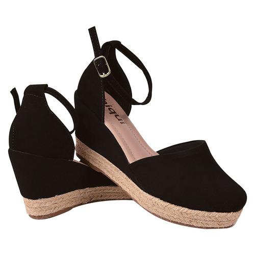sapato anabela sandalia