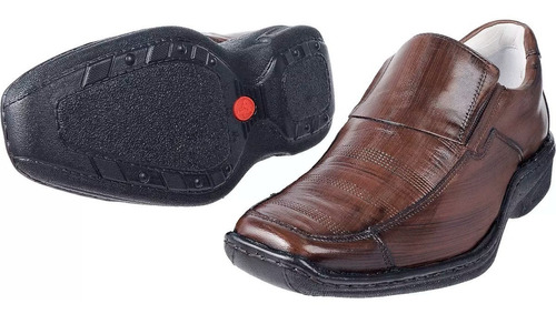 sapato antistress social comfort couro pelica macio 821 mafi