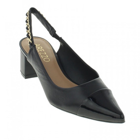 719d15896 Sandalias Femininas Preta De Salto Arezzo - Sapatos no Mercado Livre Brasil