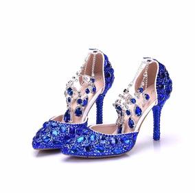 c5f460ba09 Sapato Noiva Pronta Entrega - Sapatos Azul no Mercado Livre Brasil