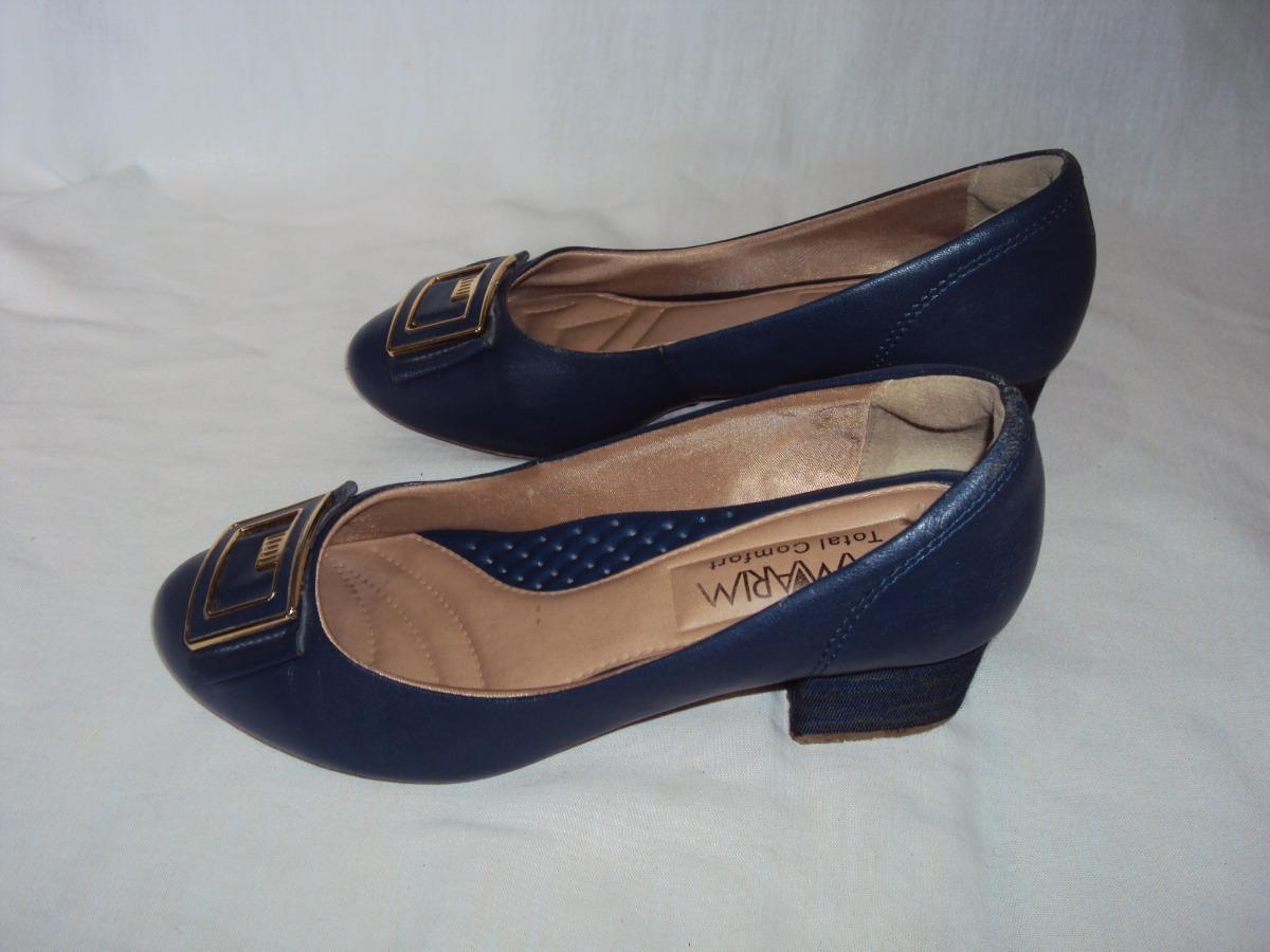 f48cd8c528 sapato azul ramarim total confort tamanho 37. Carregando zoom.