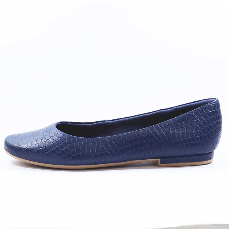 1f94f9bdcb Sapato Azul Usaflex Original Salto Grosso 2701 Promoção! - R  183