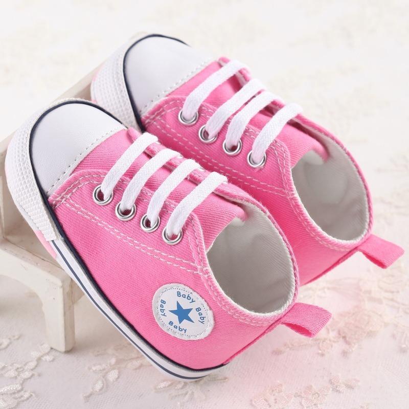 4ae79e6d8 sapato bebê tênis tipo all star primeiros passos rosa. Carregando zoom.
