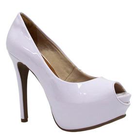 ae9d07131f Sapatos Em Verniz Feminino Peep Toe - Sapatos para Feminino Marrom claro no  Mercado Livre Brasil