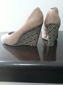 e6fa6012c Sapato Boneca Salto Anabela Beira Rio - Sapatos Marrom no Mercado ...