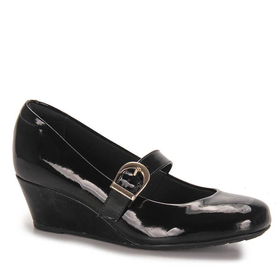 434c212f1 sapato boneca anabela conforto feminino modare - preto. Carregando zoom.