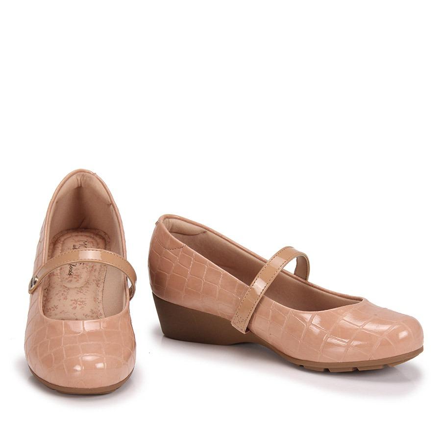 7e9437dfc Sapato Boneca Anabela Conforto Modare - Nude - R$ 89,99 em Mercado Livre