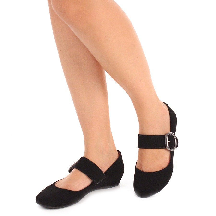daf21acbf9 sapato boneca anabela feminino pensatto - preto. Carregando zoom.