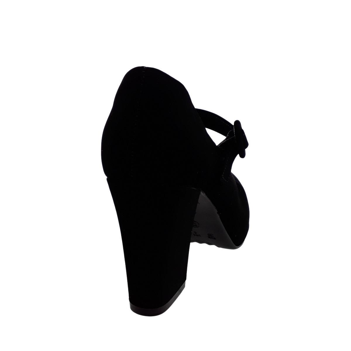 17c6f88c617e3 sapato boneca bebecê feminino salto 8 cm 6916-265 preto. Carregando zoom.