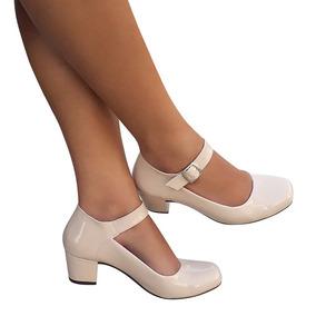 90af3d689d Salto Quadrado Bege - Sapatos no Mercado Livre Brasil