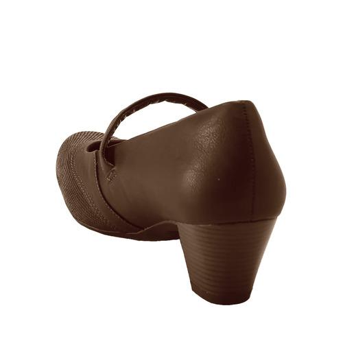 sapato boneca campesí couro café (dakota conforto) l5375