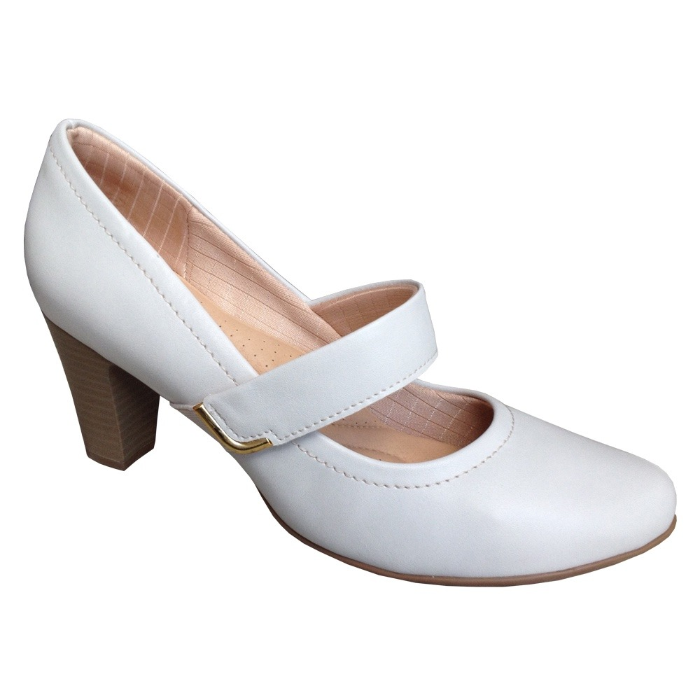 5b278670a sapato boneca piccadilly 130177 scarpin feminino branco gelo. Carregando  zoom.