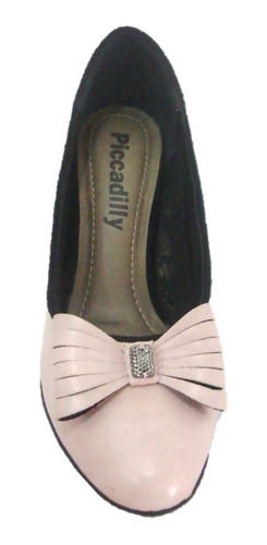 sapato boneca piccadilly 312002 -scarpin rosa - dicastros