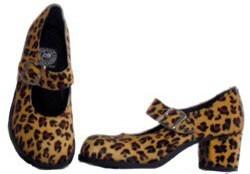 82e9b2f31 Sapato Boneca Salto Alto Onça Couro Ref177 - R$ 225,00 em Mercado Livre