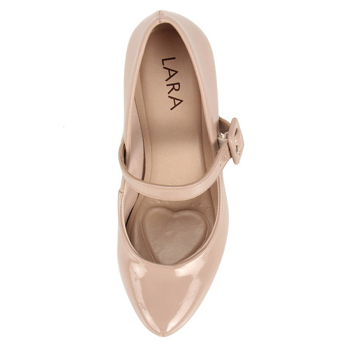 81dfb1c341 sapato boneca salto feminino lara - bege. Carregando zoom.
