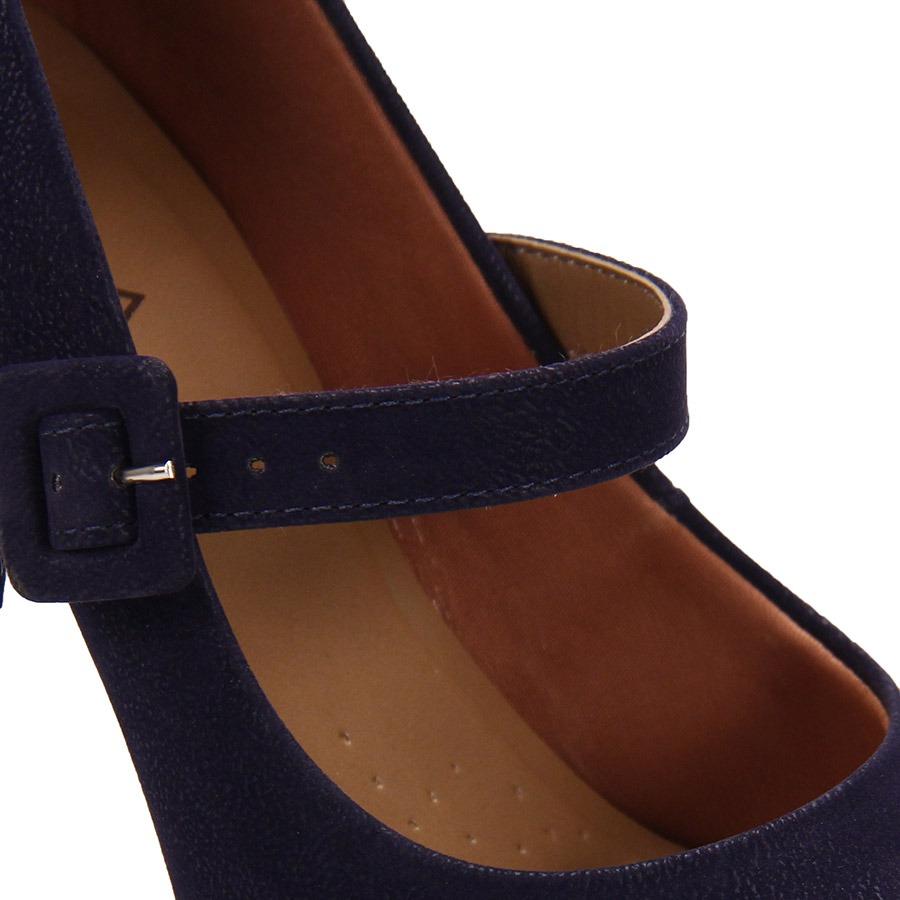 6365876c04 sapato boneca salto feminino lara - marinho. Carregando zoom.