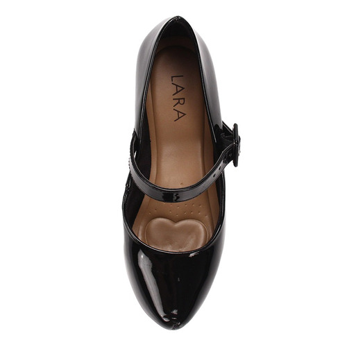 sapato boneca salto feminino lara - preto