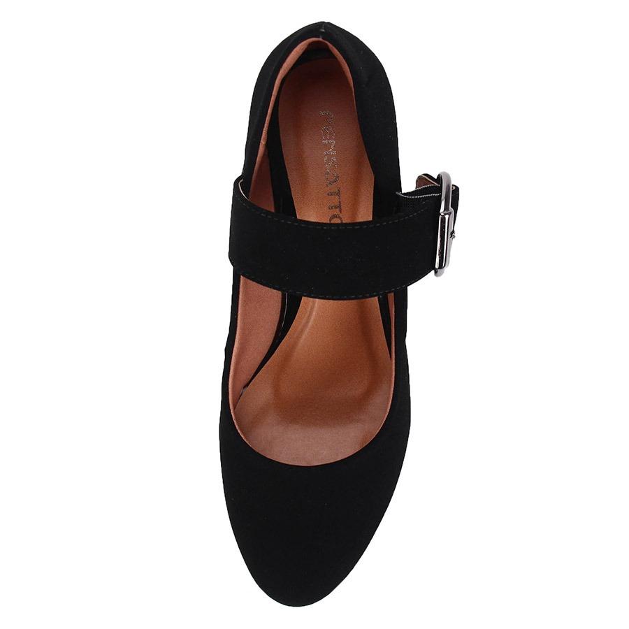 5a19e430c2 sapato boneca salto feminino pensatto - preto. Carregando zoom.
