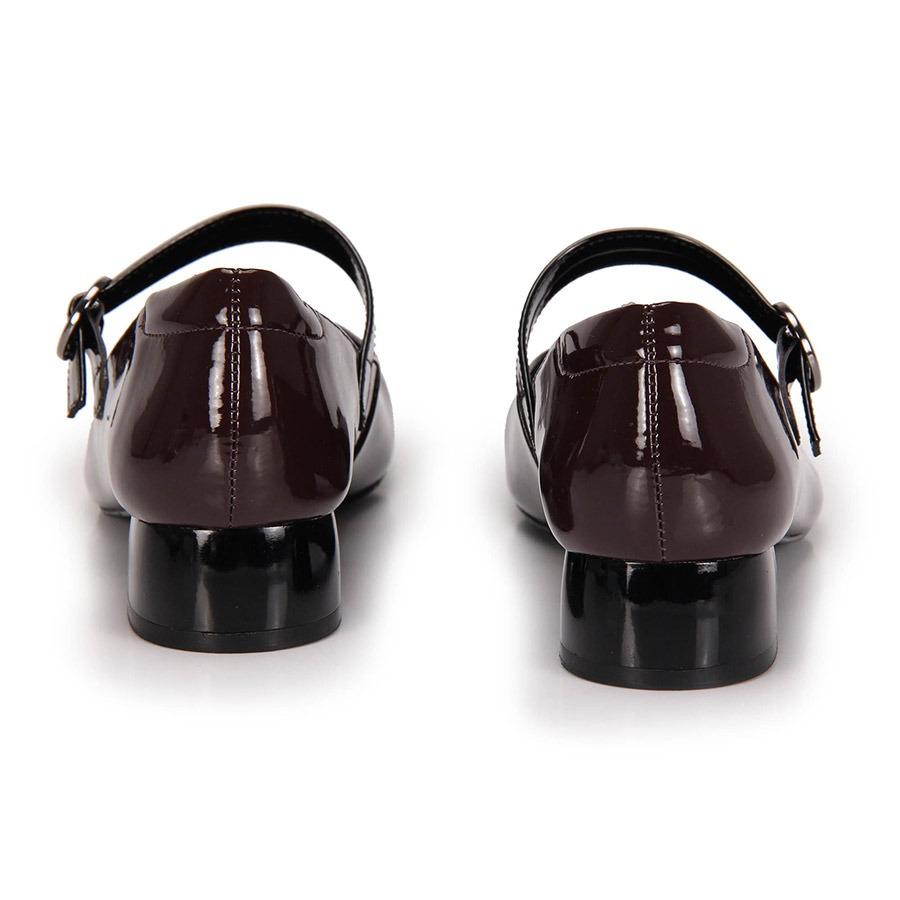 d6b8ed7f3 sapato boneca salto grosso lara bico redondo - vinho. Carregando zoom.