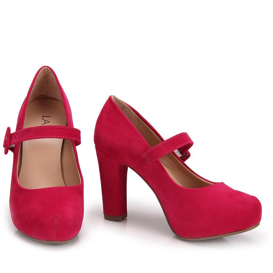 ef9e02721 Sapato Boneca Salto Grosso Lara - Pink - R$ 109,99 em Mercado Livre