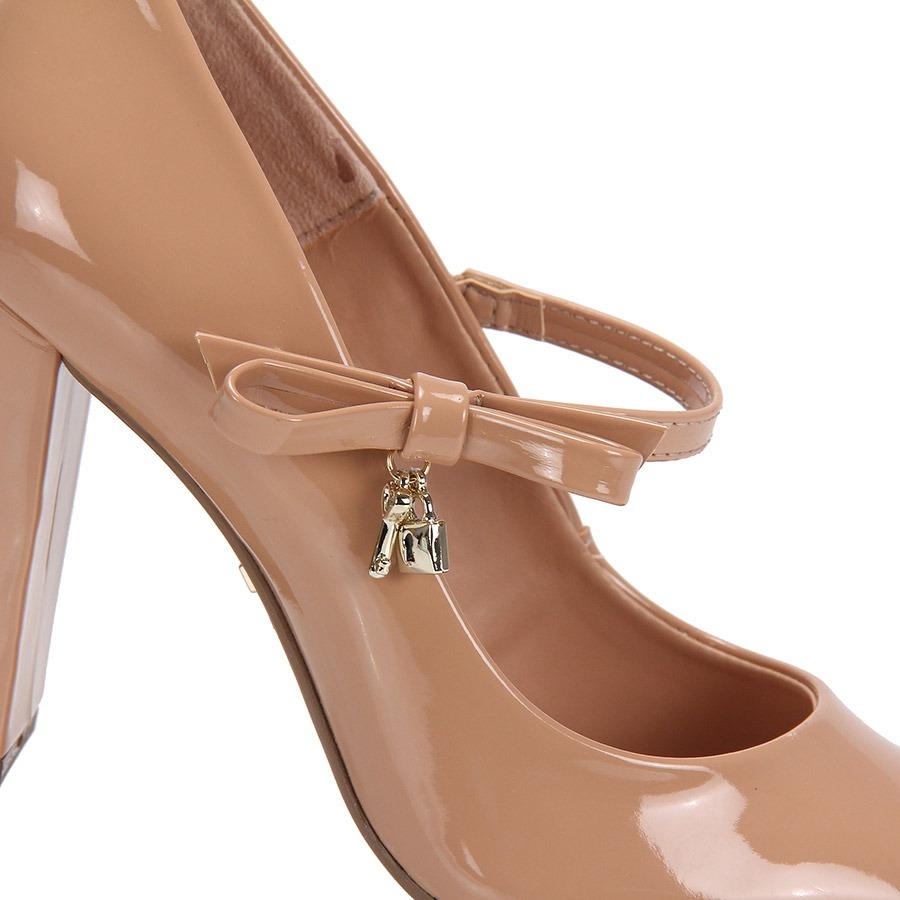 21d0287aa Sapato Boneca Salto Lara Laço - Nude - R$ 69,99 em Mercado Livre