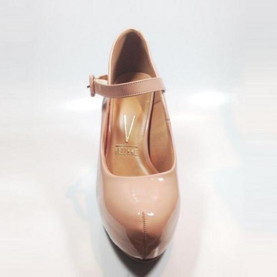 d8ec0dce2 Sapato Boneca Scarpin Plataforma Vizzano Rosa Branco Bege - R$ 148 ...