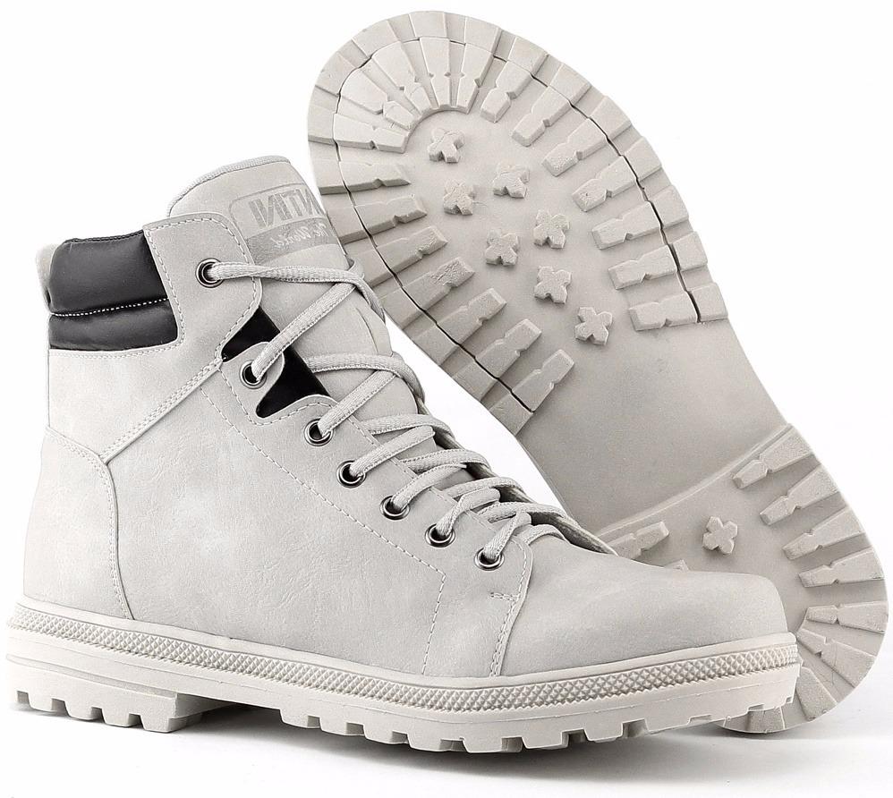 44a5d1d73bd30 sapato bota coturno branco masculino adventure social. Carregando zoom.