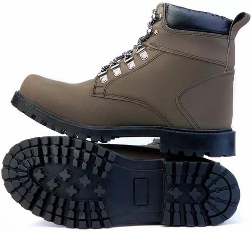Sapato Bota Coturno Masculino Adventure Cano Médio Social - R  77 fc9e7cbab5cb0