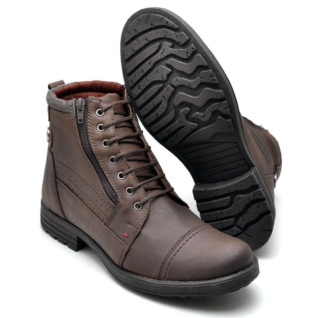 sapato bota coturno masculino adventure cano médio social. Carregando zoom. 81ed2fa94467d