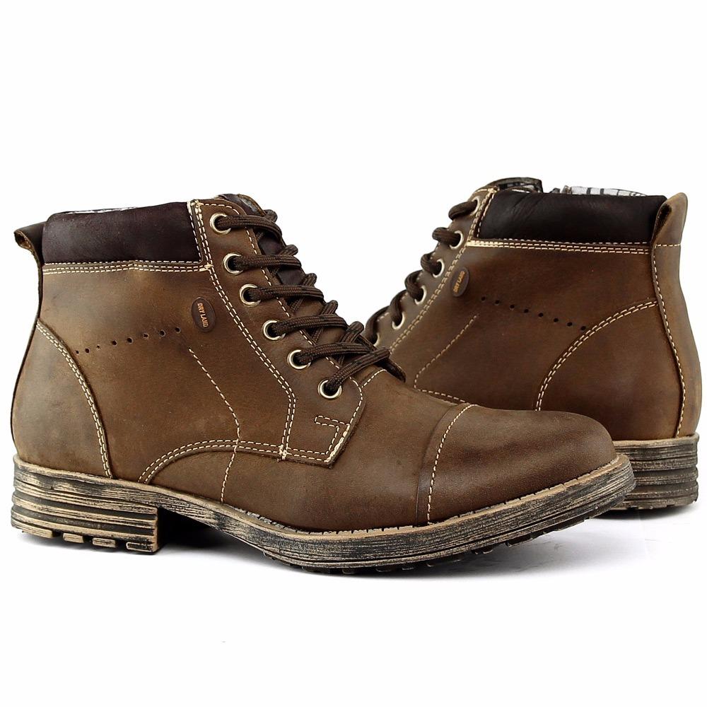 525cad1d9 Sapato Bota Coturno Social Worker Masculino Casual Dia - R$ 139,00 ...