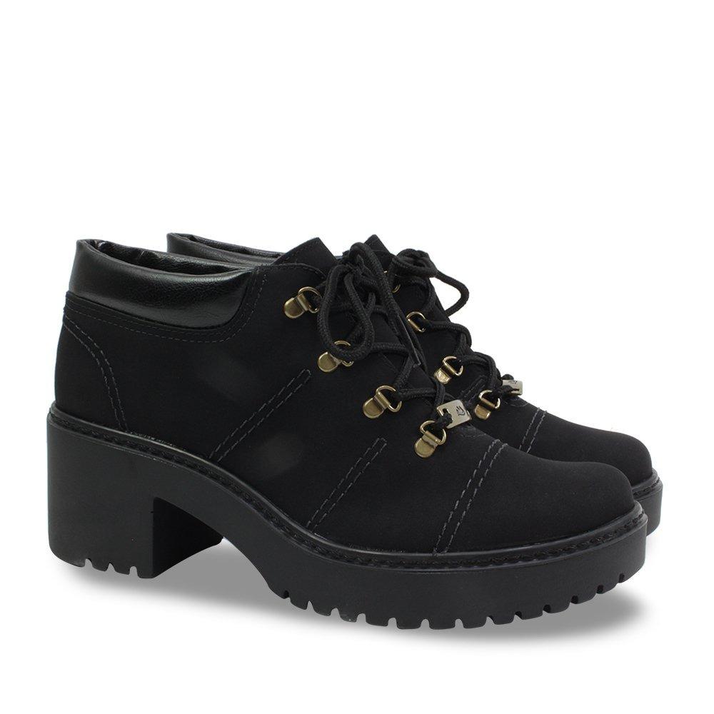 0f152976d7 sapato bota dakota cano curto feminino tratorada b9924 preta. Carregando  zoom.
