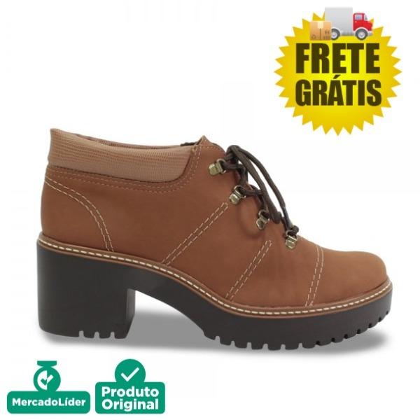1313a6ff3 Sapato Bota Dakota Cano Curto Feminino Tratorada B9924marrom - R ...