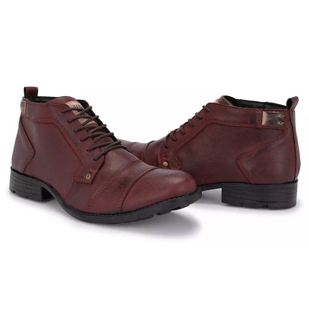 0ee2d9e8a Sapato Bota Masculina Casual Couro Sapato Cano Baixo - R$ 79,90 em ...